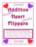Addition Heart Flippers Game Independent Valentine Math Activity