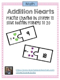 Addition Heart Puzzle - Counting On