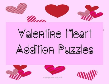 Addition Heart Puzzles