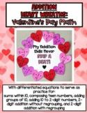 Addition Heart Wreaths - Valentine's Day Math Craft (DIFFERENTIATED)