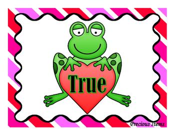 Addition Hearts:  Balance the Equation - True or False