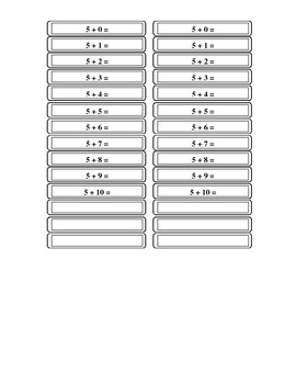 Addition Help Black and White Tables