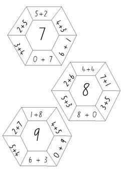 Addition Hexagons