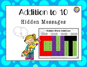 Addition Worksheets Mystery Picture