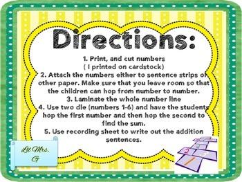 Addition Hopscotch
