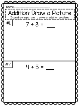 Addition {I Can Draw A Picture to Solve}