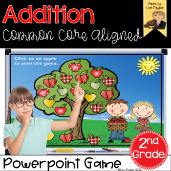 Addition Interactive Powerpoint Math Game Second Grade Edition
