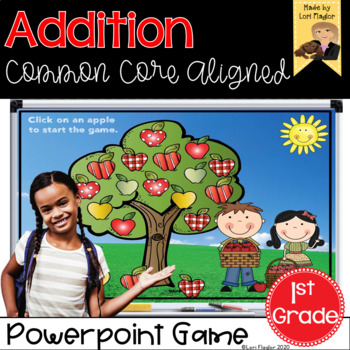 Addition Interactive PowerPoint Math Game First Grade Edition