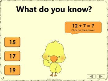 Addition Interactive Math Games {Dancing Chick} Bundle