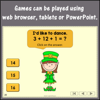 Addition Interactive Math Games {Dancing Leprechaun} Bundle