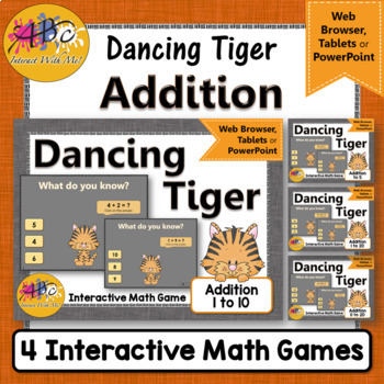 Addition Interactive Math Games {Dancing Tiger} Bundle
