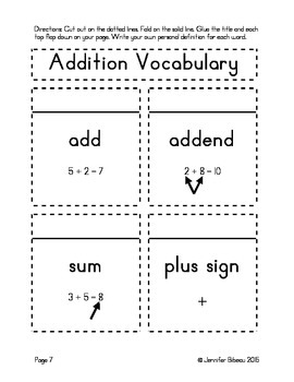 Addition Interactive Math Notebook