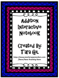 Addition Interactive Notebook