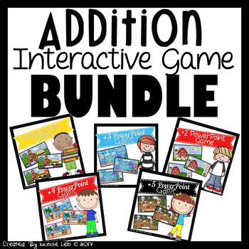 Addition Interactive PowerPoint Game Bundle