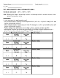 Addition Intervention Data Recording Sheets Bundle