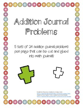 Addition Journal Problems