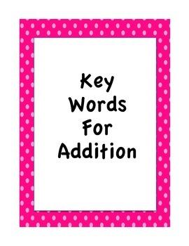 Addition Key Words