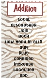 Addition Key Words, Jungle Safari Theme