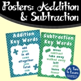 Addition and Subtraction Key Words Poster/Anchor Chart
