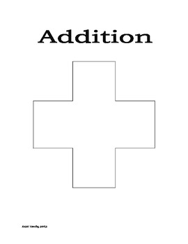 Addition Key Words Poster Blank
