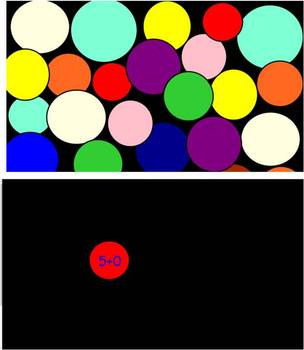 Addition Koosh ball activity for SMART Board