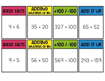 2-3 Digit Addition Board Game