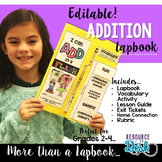Addition Lapbook {EDITABLE}  Two and Three Digit Addition