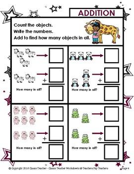 Addition - Learn to Add - Addition Vertical Form -Kindergarten/Grade 1/1st Grade