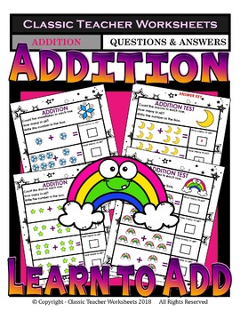 Addition-Add & Write the Total Number of Objects - Kindergarten