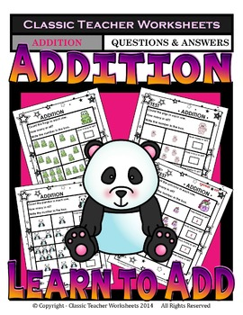 Addition-Counting the Objects & Writing the Sum Kindergart