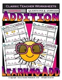 Addition-Draw Pictures to Match Number Sentences Kindergarten-Grade 1/1st Grade