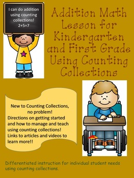 Addition Lesson for Kindergarten and First Grade Using Counting Collections