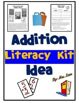 Addition Literacy Kit Idea