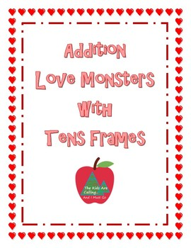 Addition Love Monster Cards With Ten Frames