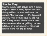 Addition Make 10 Go Fish with Owl Theme