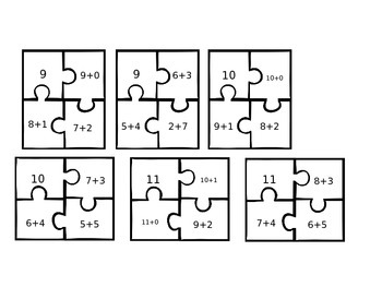 Addition Make 3 through 20 Puzzles