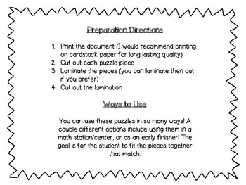 Addition Make 3 through 7 Puzzles
