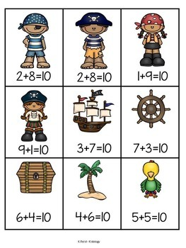 Addition Making Ten Game - Pirate Theme