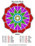 Addition Mandala Math Color by Number Bundle