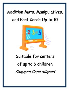 Addition Manipulatives with Mats and Fact Cards, Animal Habitat Themed