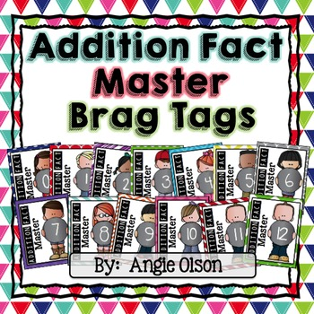 Addition Fact Master Brag Tags