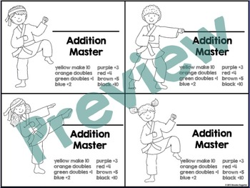 """Addition Masters """"Addition Facts Fluency"""""""