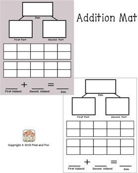 Addition Mat Common Core MAFS