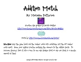 Addition Match Fact Fluency Game