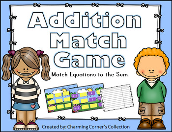 Addition Match Game ~ Sums: 0 - 10