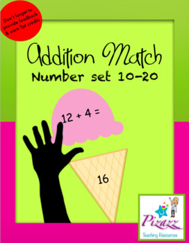 Addition Match Ice Cream 10-20 Game.