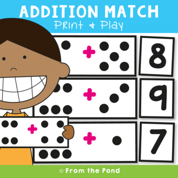 Addition Game {Addition Match} Printable Math Center