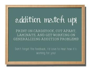 Addition Match-Up