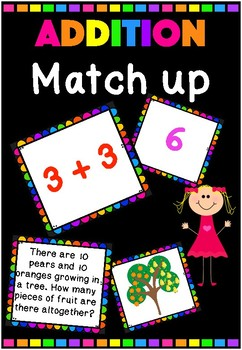 Addition Match Up (Numbers 1-20)
