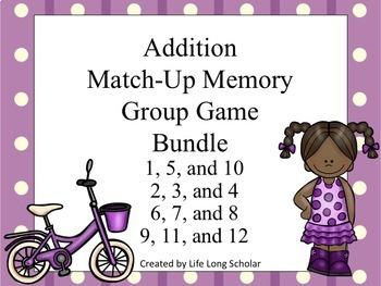 Addition Match Up Set Game BUNDLE!